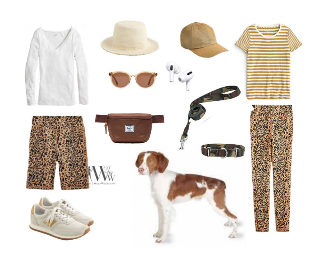 Karen Klopp what to wear to walk the dogs.   dressing for coronavirus.