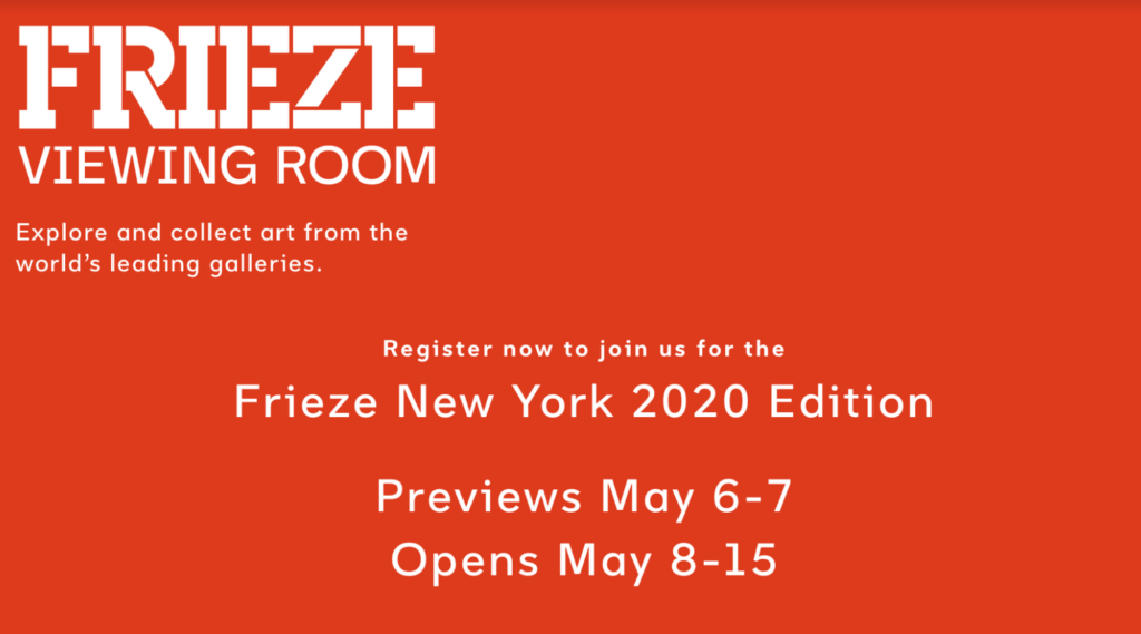 These are the articles that have caught our attention this week.   Frieze Viewing Room