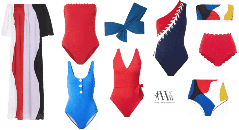 Karen Klopp fashion advice for the best swimwear for 2020, what to wear Memorial Day Weekend.