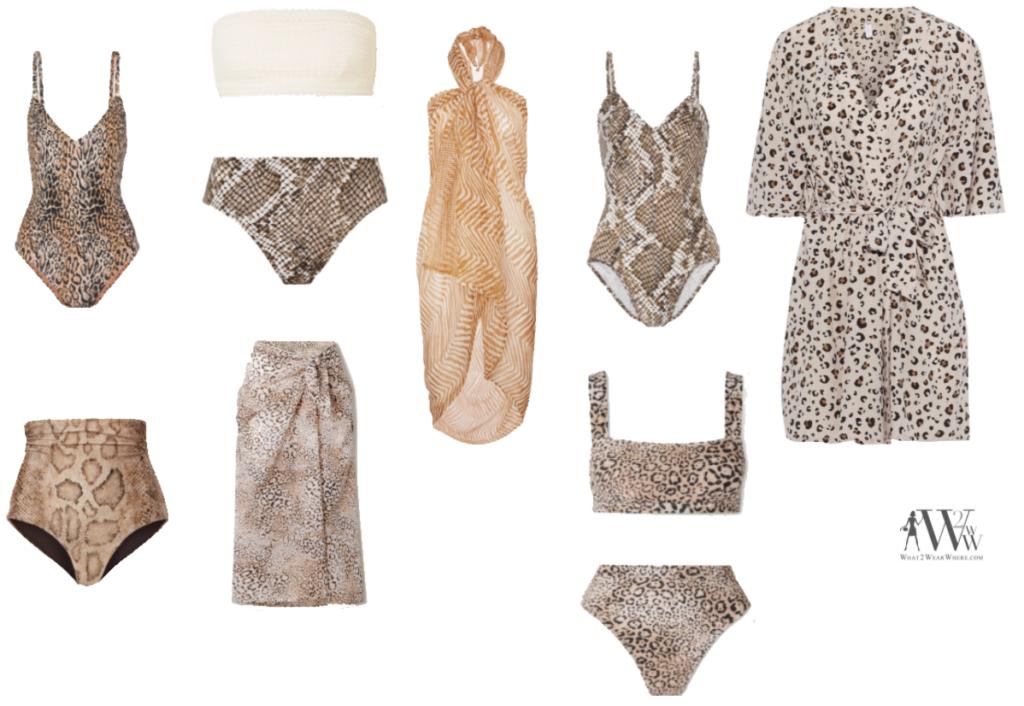 Karen Klopp fashion advice what to wear Memorial Day Weekend, must have swimwear animal prints