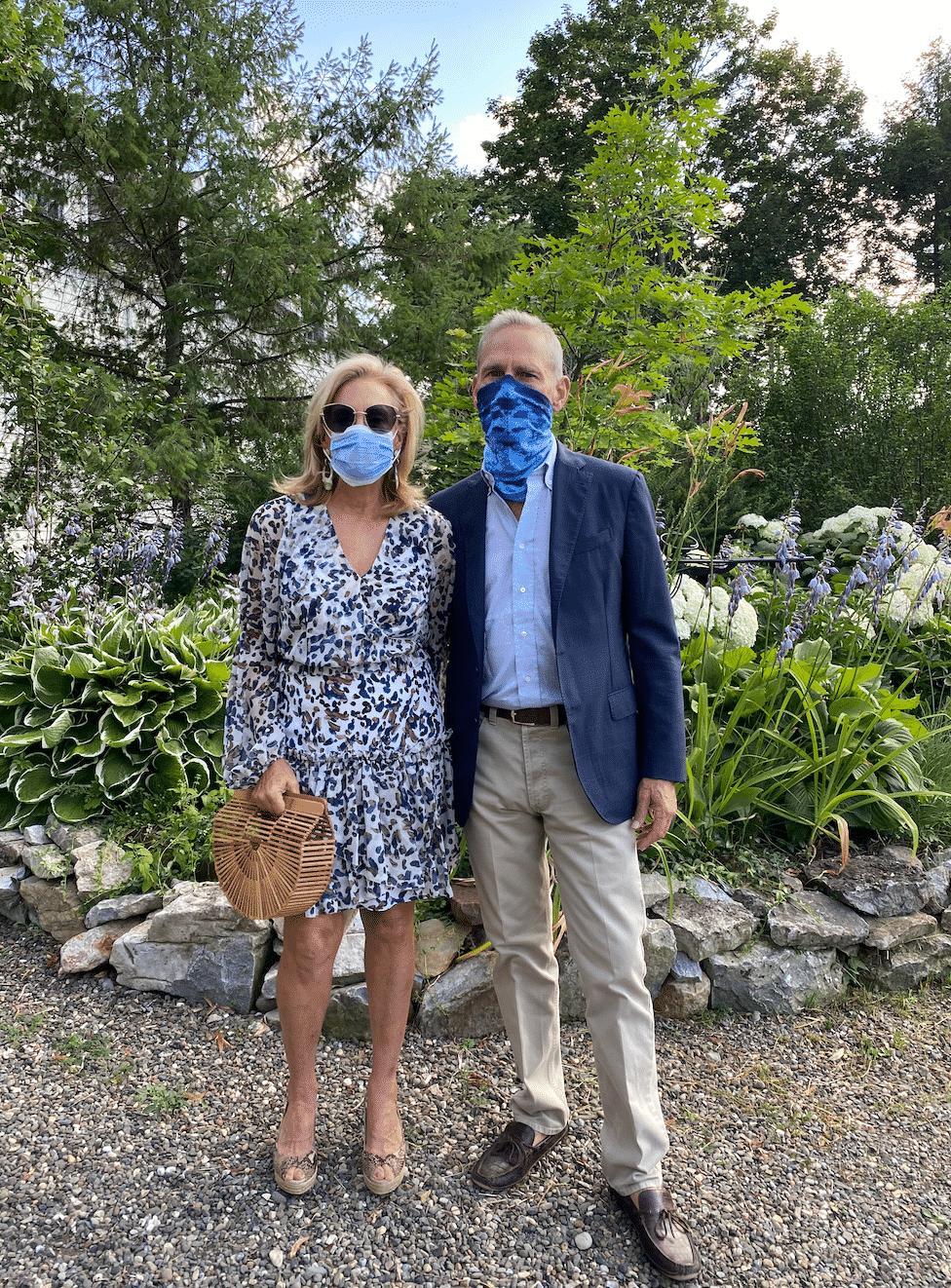 John and Karen Klopp wearing masks