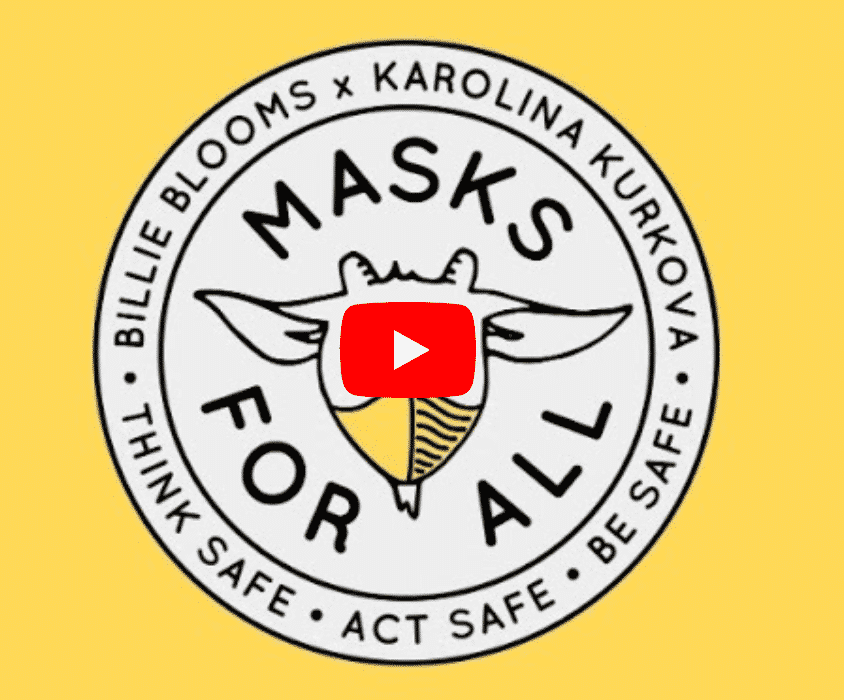 These are the articles that have caught our attention this week.  Karolina Kurkova & Billie Blooms Masks For all.