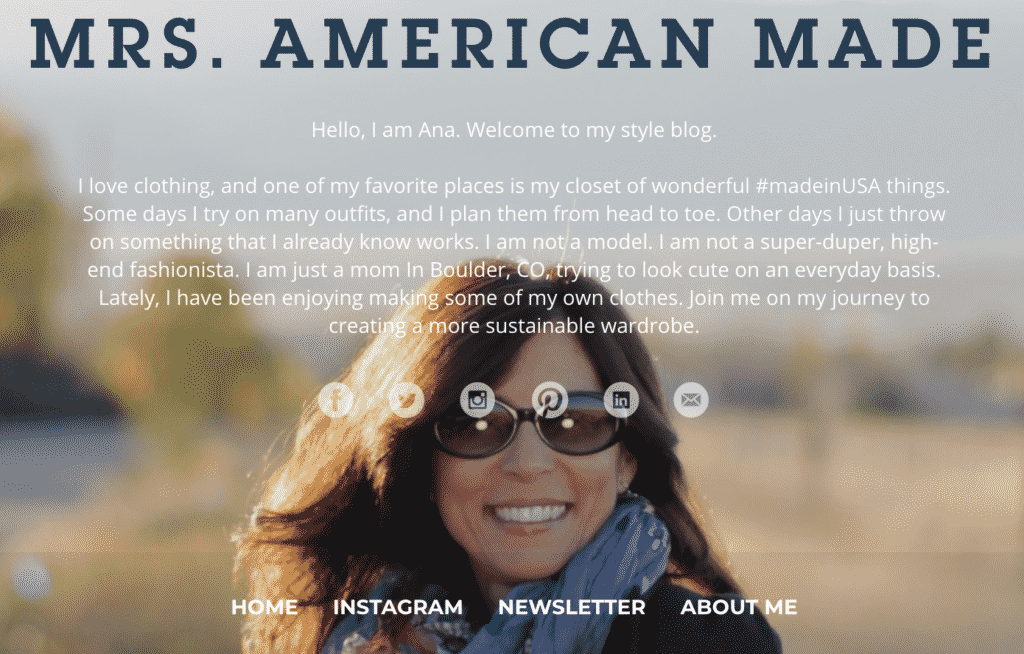 Independent Fashion Blogger Links à La Mode!  MRS. American Made