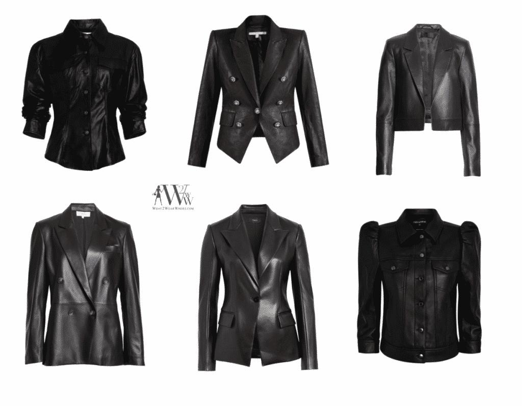 Karen Klopp fall fashion pick.  Best leather Jacket