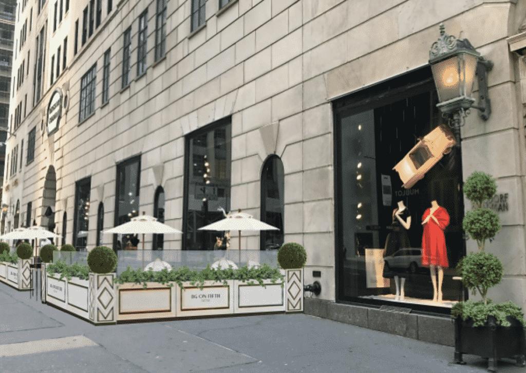 Bergdorf Goodman, New york city, outdoor dinning, BG on Fifth.