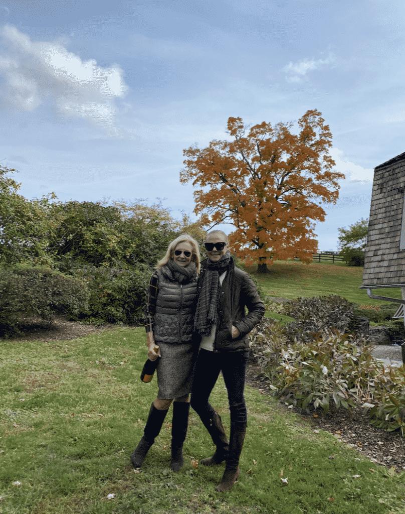 Karen Klopp, Hilary Dick at Smithfield Farm, Millbrook.  What to Where Fall