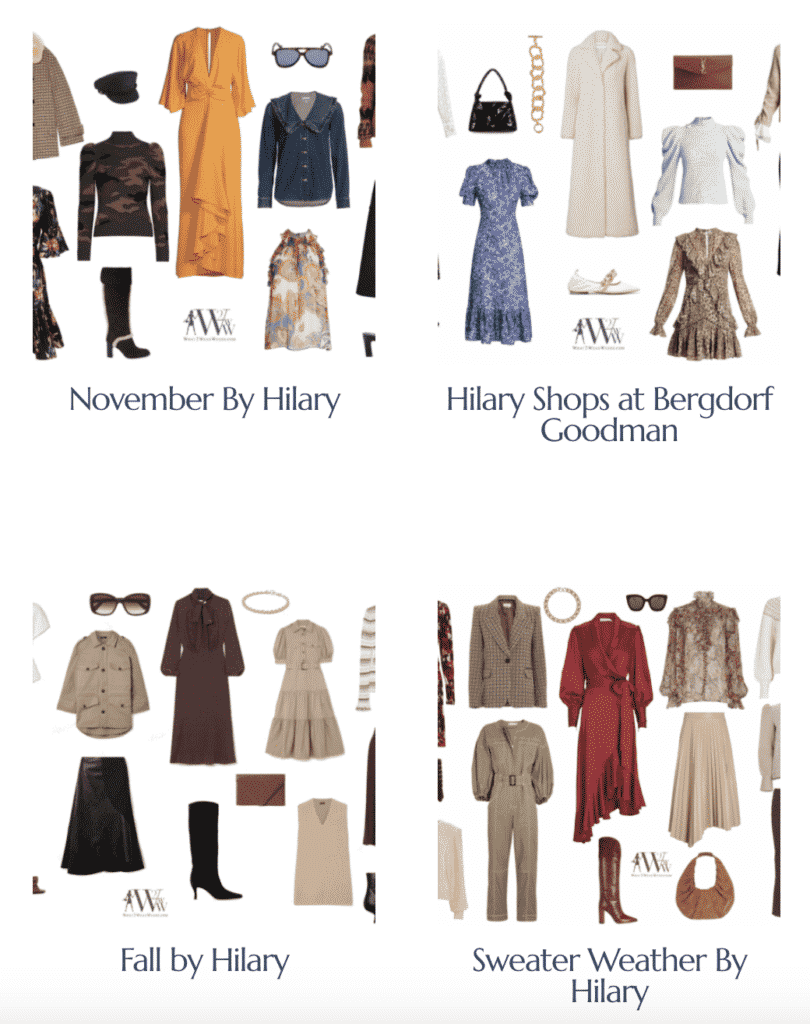 What is sylish Hilary Dick shopping for What2WearWhere?  Check it out here.