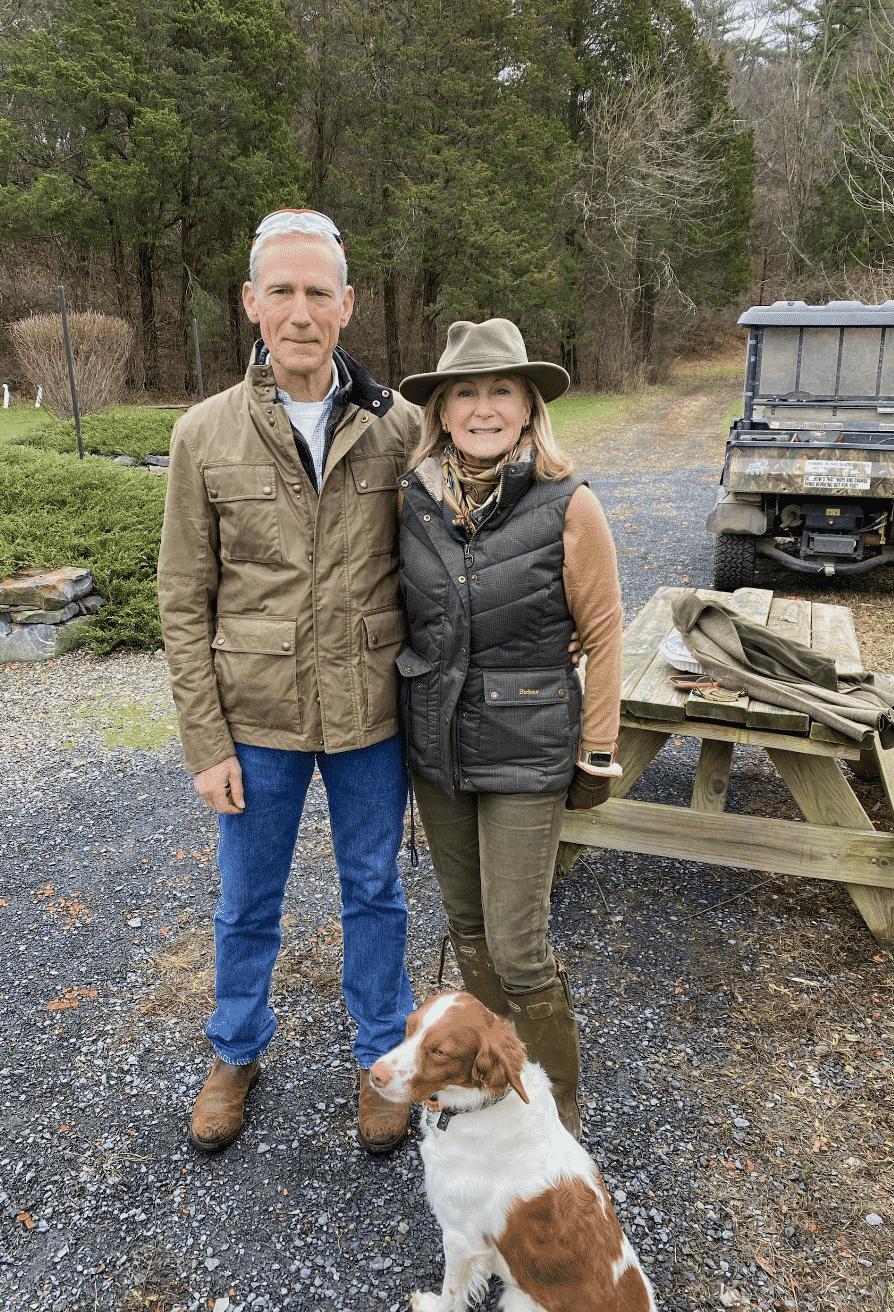 Karen and John Klopp with dog, Rocky