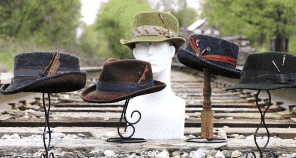 Swan and Stone hats from Vermont.