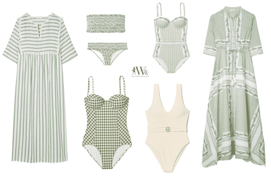 What to wear karen klopp picks best Tory Burch swimwear.At What2WearWhere we keep you up to date in fashion.