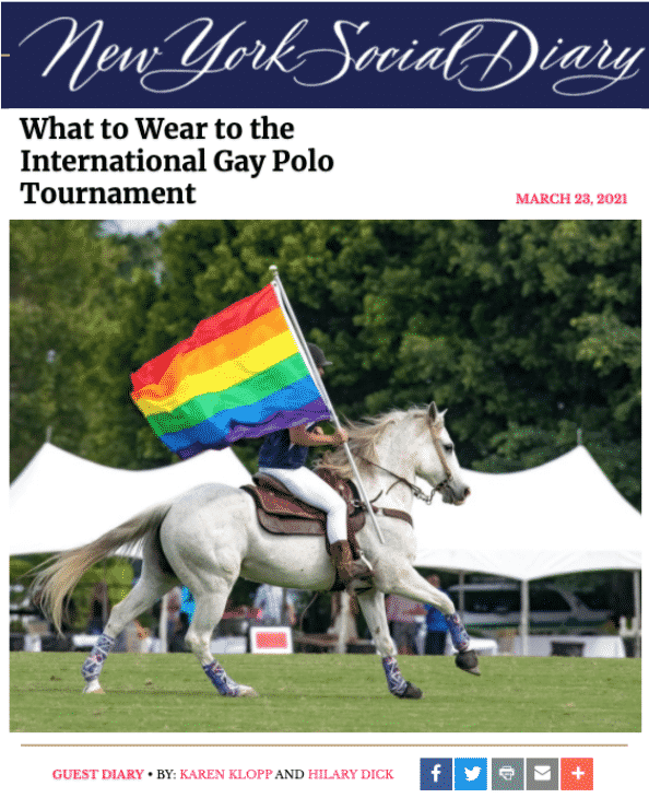 What to wear to Gay Polo?  Karen Klopp and Hilary Dick chose the best fashion to celebrate the Lexus Gay Polo Weekend in style.