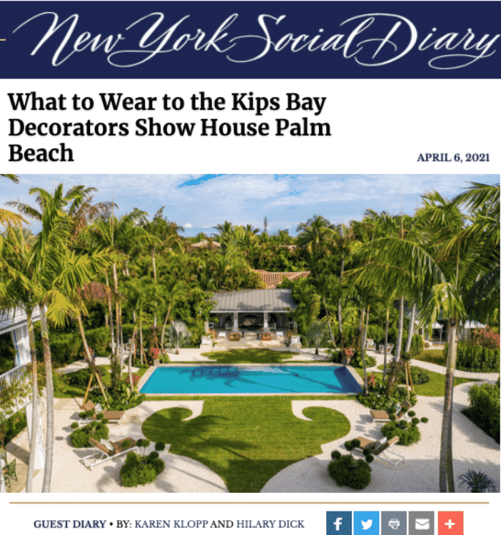 What to Wear Kips Bay Decorator Show House Palm Beach.