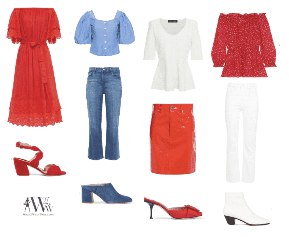 What to wear Memorial Day.  Karen Klopp fashion advice on wearing Red, White and Blue.