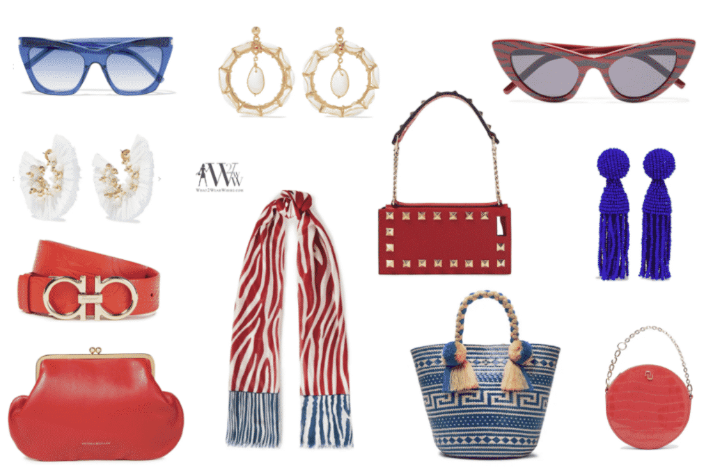What to wear Memorial Day.  Karen Klopp fashion advice on wearing Red, White and Blue