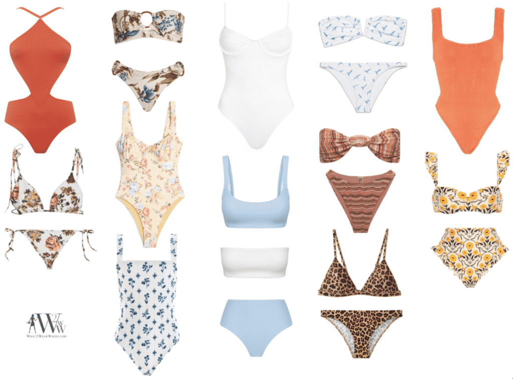 What to wear where, Hilary Dick top choices  for a summer swimwear trends and must haves.