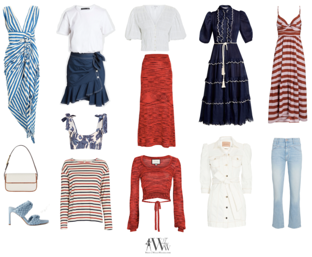 What to wear where, Hilary Dick top choices  on 4th of july