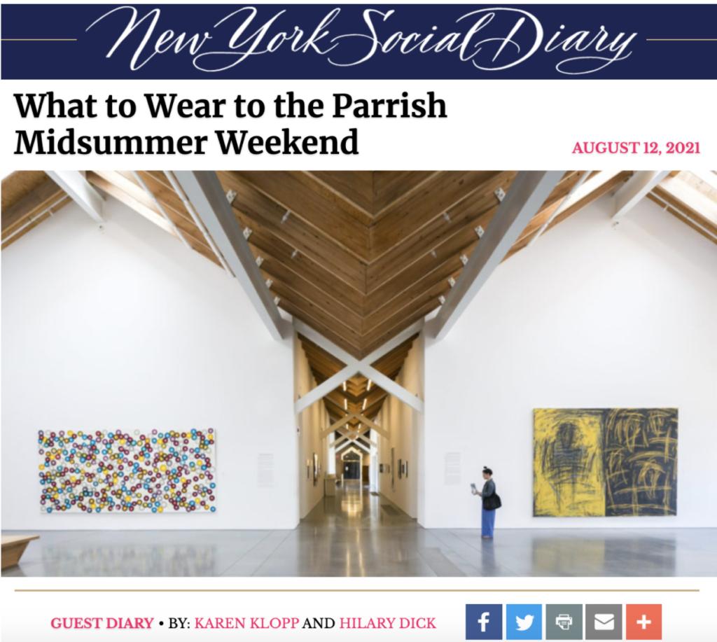 The Parrish Art Museum Midsummer Weekend, Southampton, Karen Klopp, Hilary Dick, New York Social Diary. What to wear.