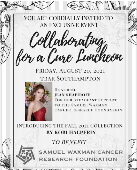Collaborating for a cure luncheon. Jean shafiroff, Samuel Waxman Cancer Research Foundation