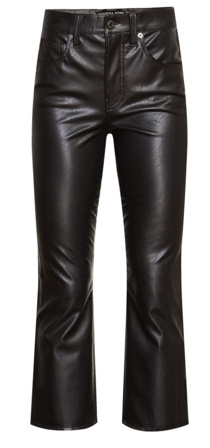 What to wear where, Karen Klopp top choices  for a fall trends on Veronica Beard. Vegan Leather pant