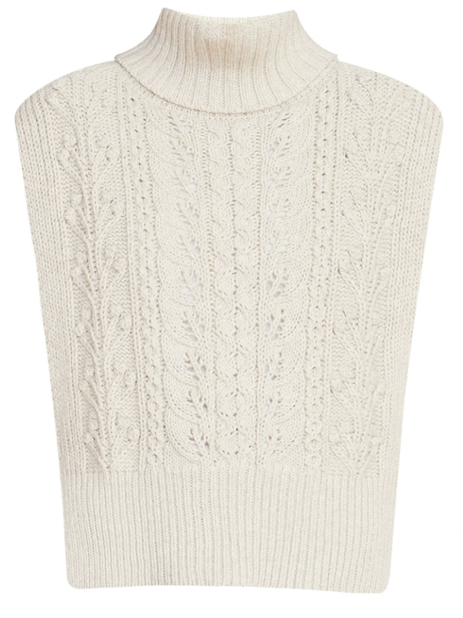 What to wear where, Karen Klopp top choices  for a fall trends on Veronica Beard. Sweater Vest.