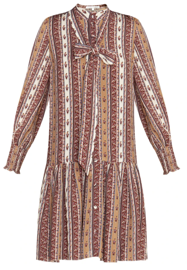 What to wear where, Karen Klopp top choices  for a fall trends on Veronica Beard. Chateau Dress.