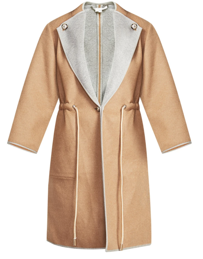 What to wear where, Karen Klopp top choices  for a fall trends on Veronica Beard. Reversible coat.