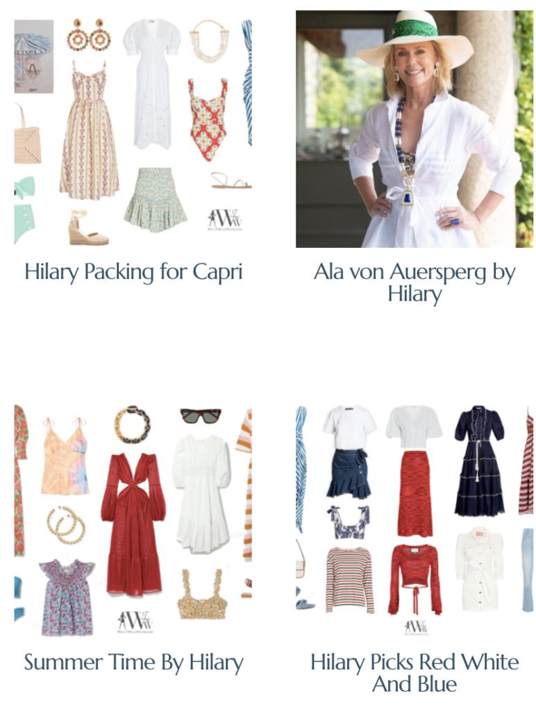Shop Hilary's Recent Fashion Articles.