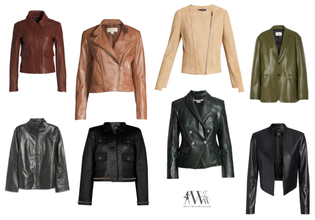 Karen Klopp picks the best leather jackets for fall 2021.