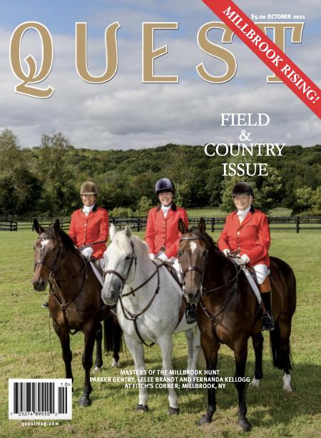 Cover of Quest Magazine, Parker Gentry, Lelee Brandt & Fernanda Kellogg, Karen Klopp