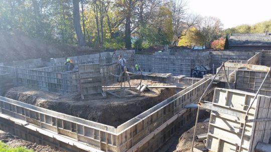 Foundation Walls at Sunrise Homes Lake Geneva Model