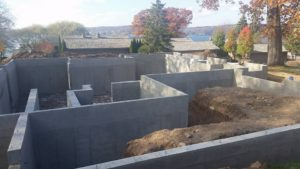 New Home Foundation Ready For Backfill