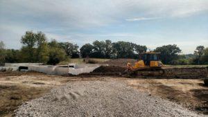 Site Grading & Backfill at Yorkville Custom Home
