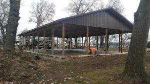 Pavilion Concrete Slab Construction Racine County