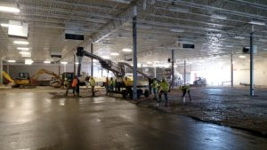 Ligchine Laser Screed Concrete Flatwork for Horizon Retail Construction