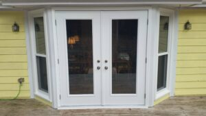 French Doors w/ Double hungs