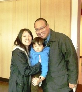 Mark Nagales with his wife Amy and their son Aidan