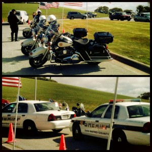 San Mateo Co Sheriff's Dept were on hand to honor and pay respect to PFC Joseph Steinberg at GGNC