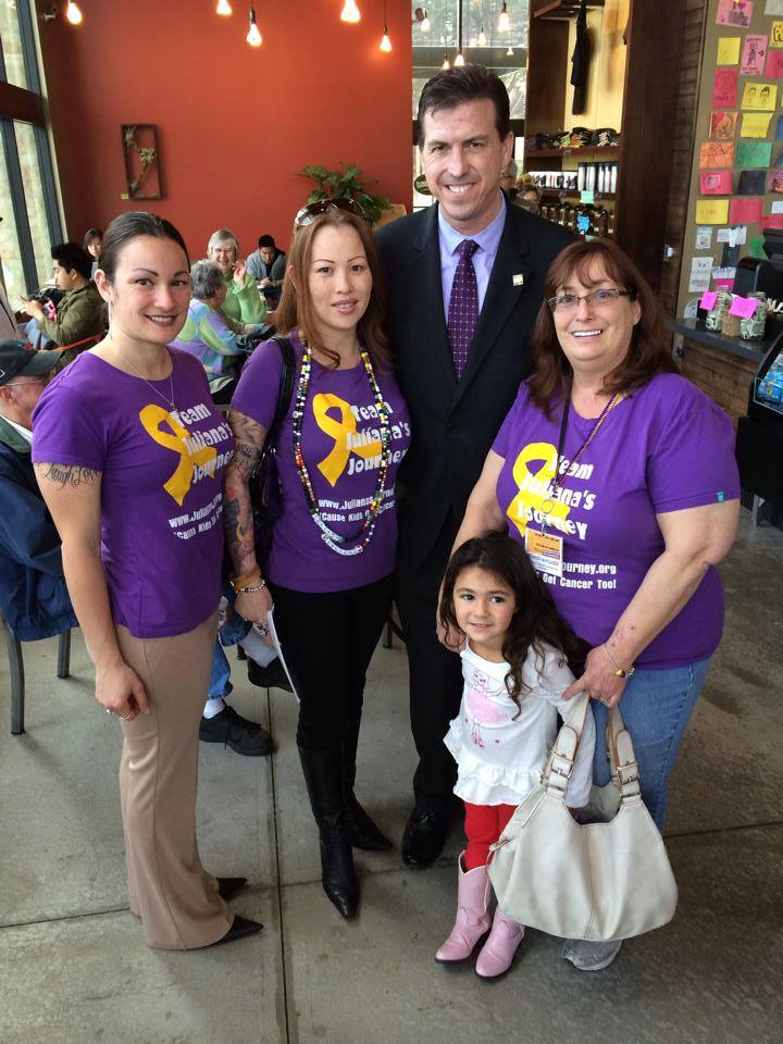 Ca State Assemblyman Kevin Mullin met with JJF co-founder and boardmembers (Angelique, Patrica, Kevin, Brandi and Alyssa)