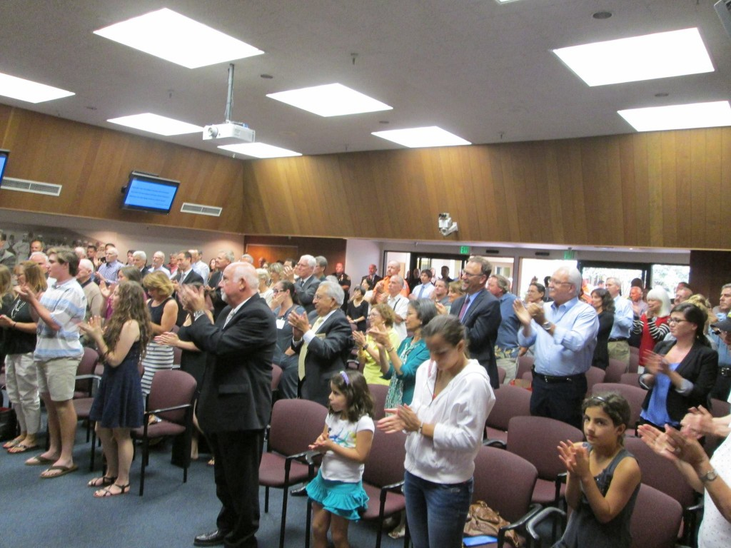 There was hardly a dry eye in the standing ovation honoring Mike Brosnan Photo SSFPD