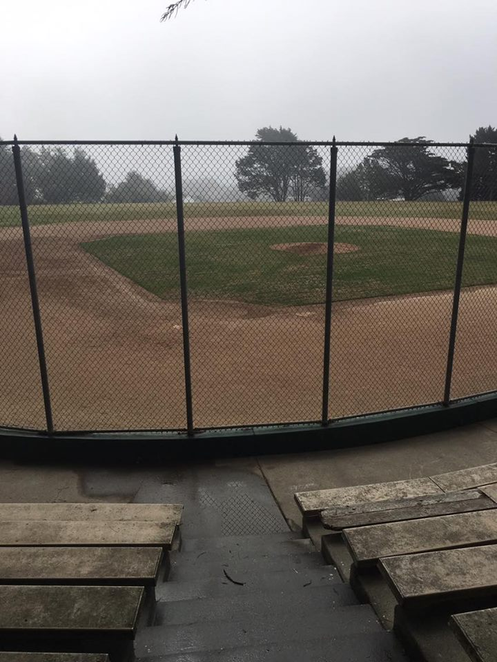 Westborough Park Baseball field was to be used by SI and remains in good condition