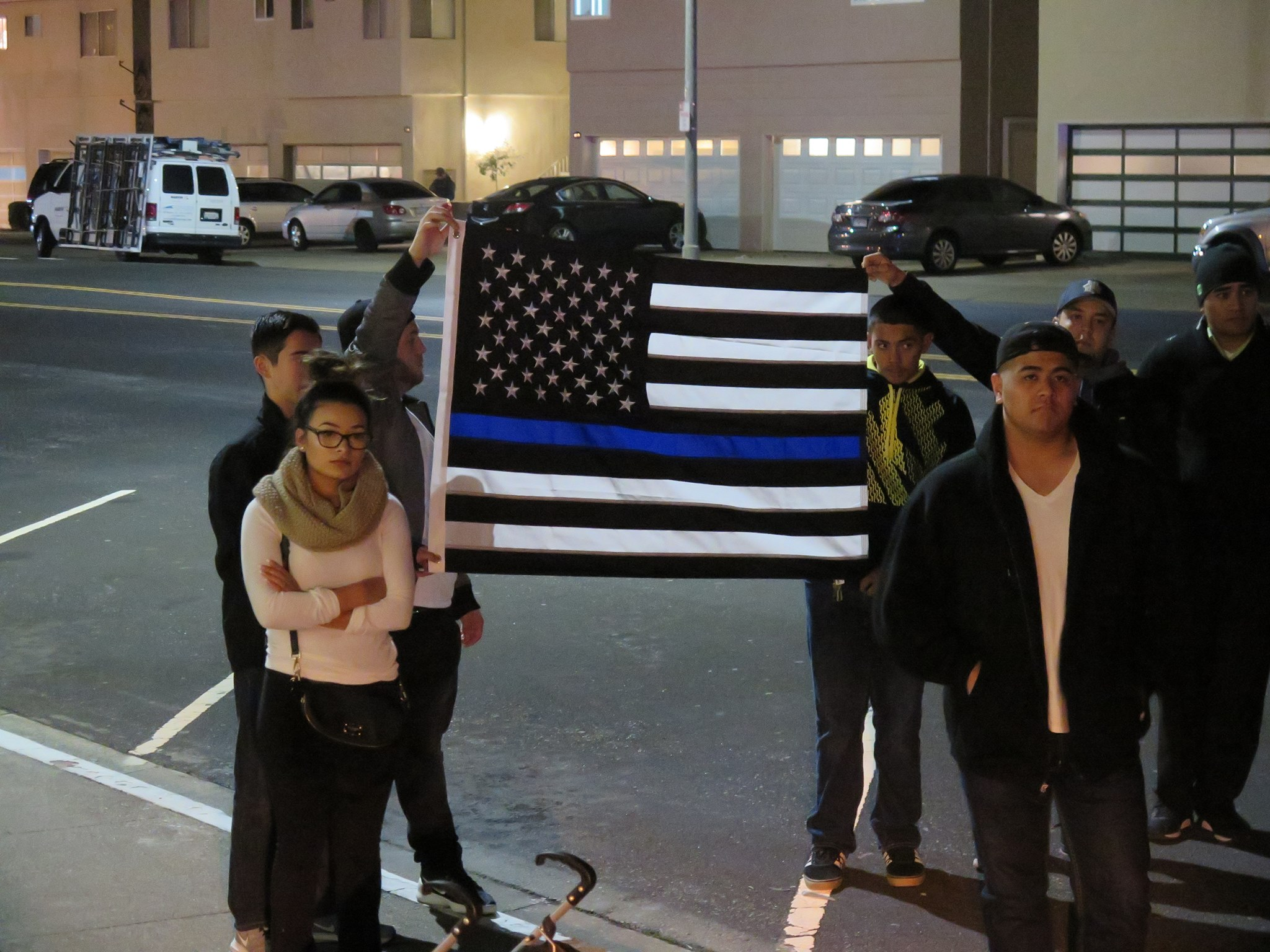 Reminding us all, our police are the thin blue line that protects our community. Photo: SSFPD