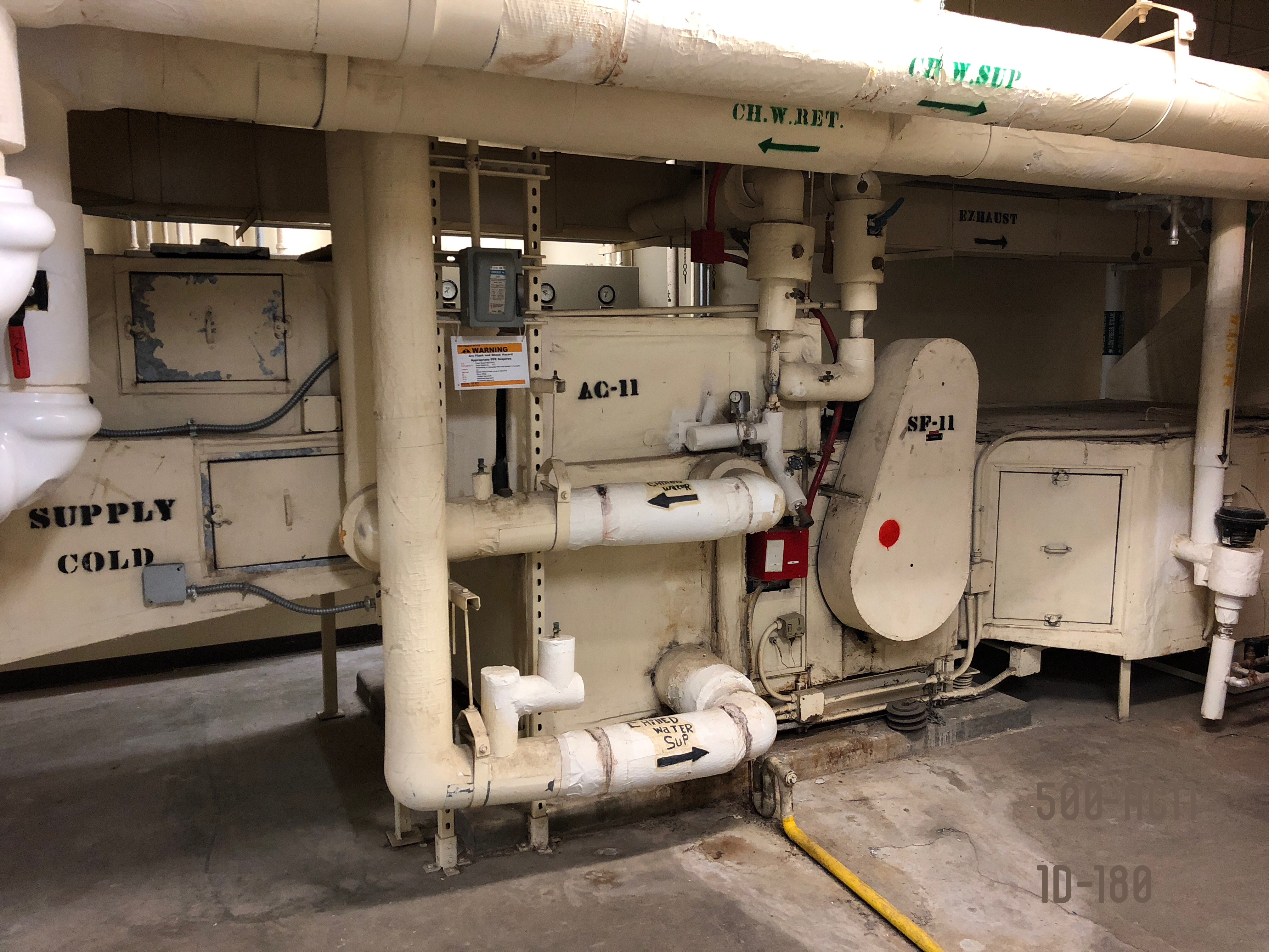 Existing AHU is poor condition