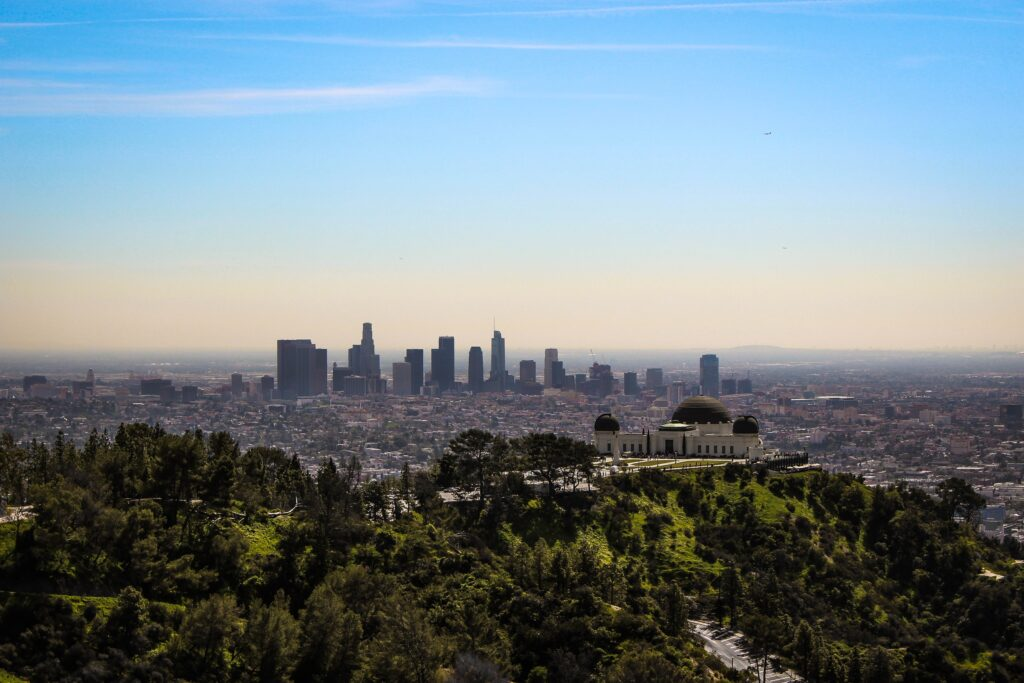 view of the city of Los Angeles