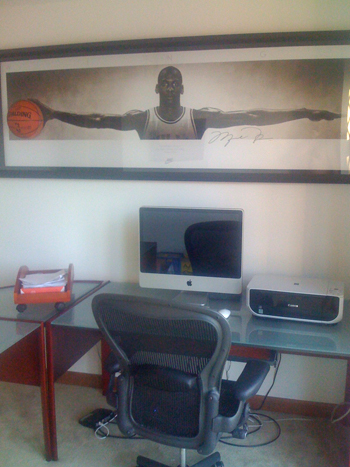 """The Upper Deck Authenticated Michael Jordan """"Wings Breaking Through"""" piece from Silverman's collection."""