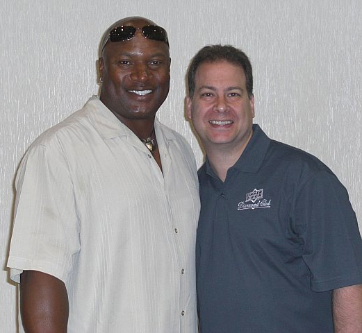 Jeff Silverman with Bo Jackson at last year's National show.
