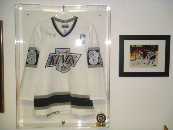 Wayne Gretzky items in Silverman's collection.