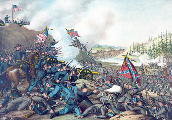 Civil war battle flags
