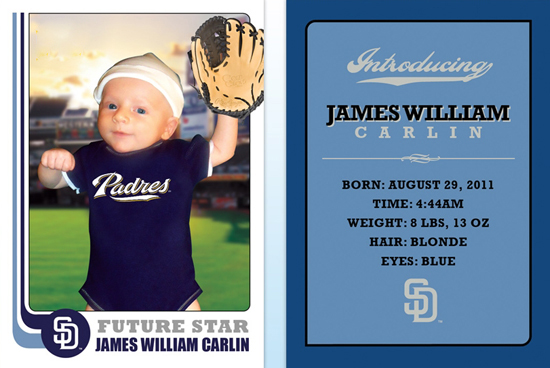 Teaching-Kids-Children-How-to-Collect-Creative-Sports-Birth-Announcement-Trading-Card