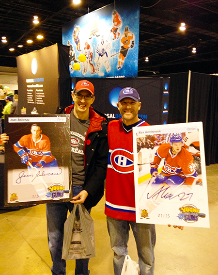 2014-Fall-Sportscard-Memorabilia-Expo-Upper-Deck-Booth-Big-Pull-Montreal-Canadiens-Blow-Ups