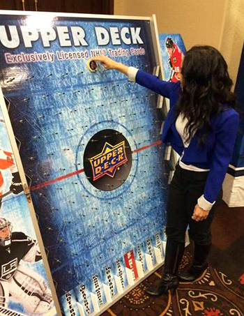 2015-beckett-las-vegas-industry-summit-collectibles-sports-cards-upper-deck-co-op-corner-puck-o-game